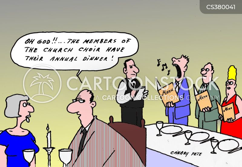 choir singers cartoon