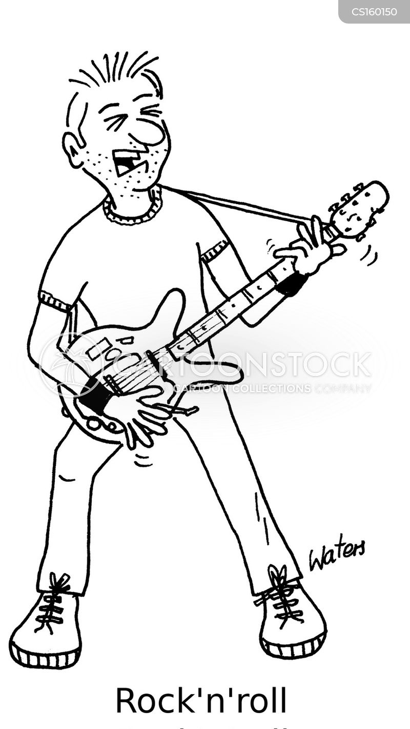 Rock And Roll Playing Guitar Cartoons And Comics Funny Pictures From Cartoonstock