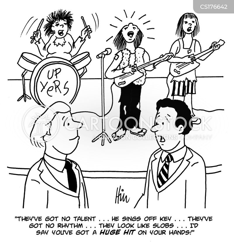 music industry cartoon