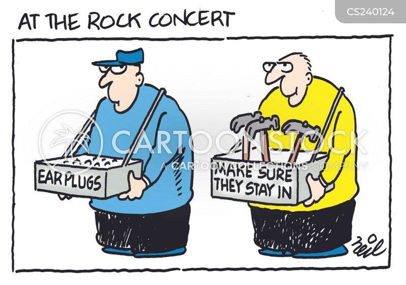 rocking out cartoon