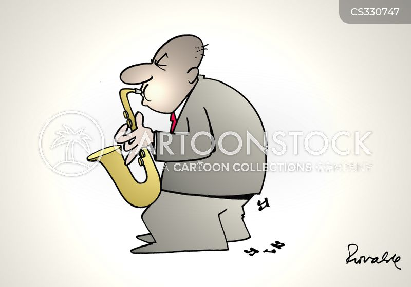 saxophonist cartoon