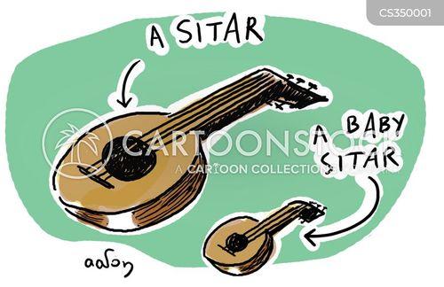 stringed instruments cartoon