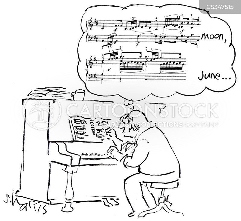 song-writer cartoon