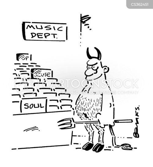 music shops cartoon