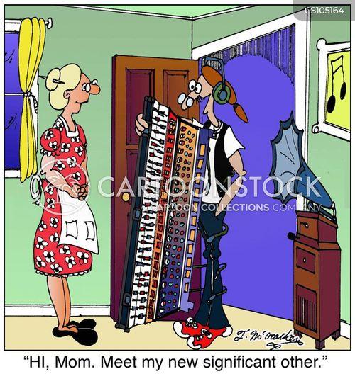 audio technician cartoon
