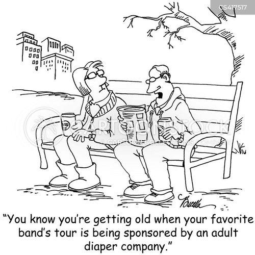 music fans cartoon