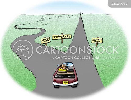 long road cartoon