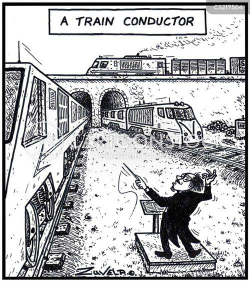 train lines cartoon