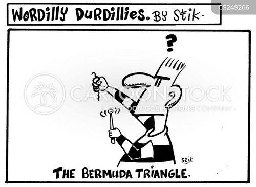 playing the triangle cartoon