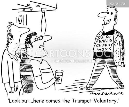 voluntary work cartoon
