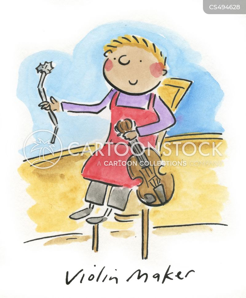 violin maker cartoon