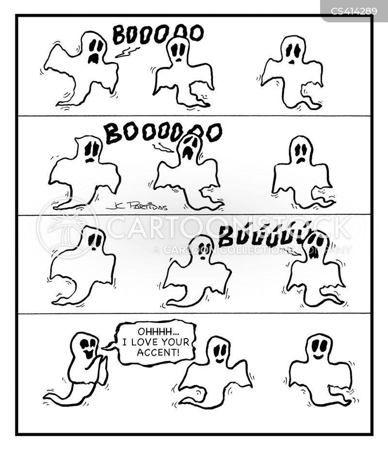 ghostly cartoon