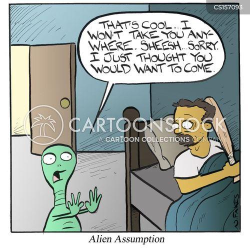 abducting cartoon