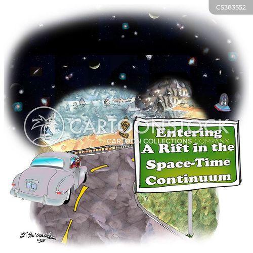 space-time continuum cartoon