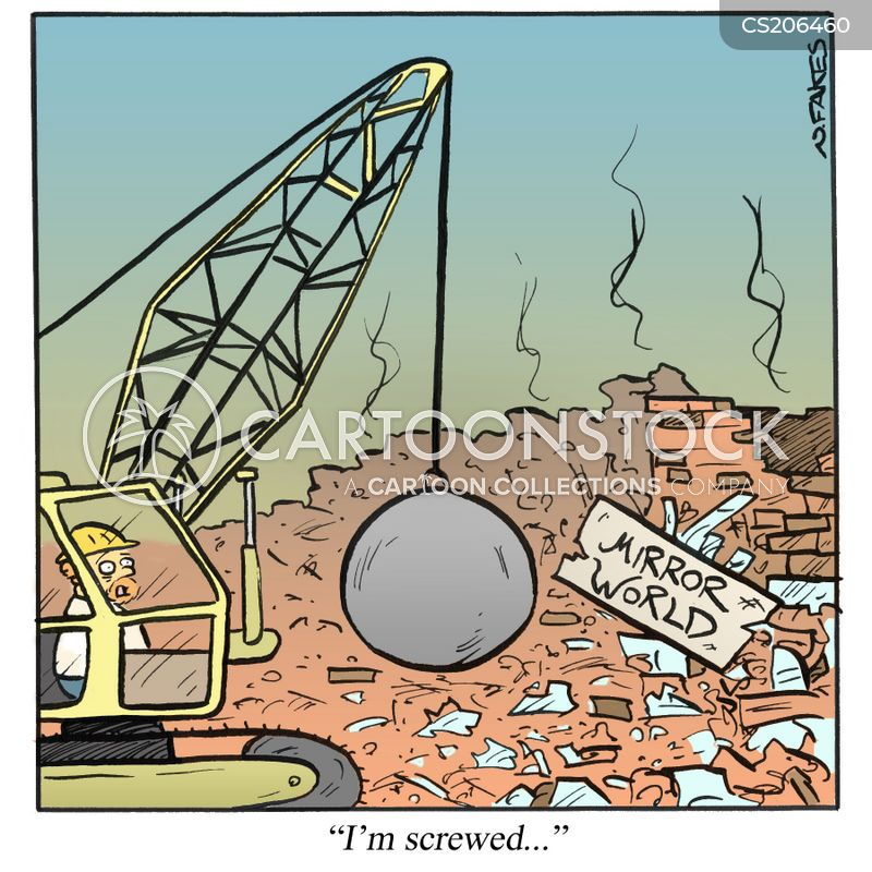 demolition balls cartoon