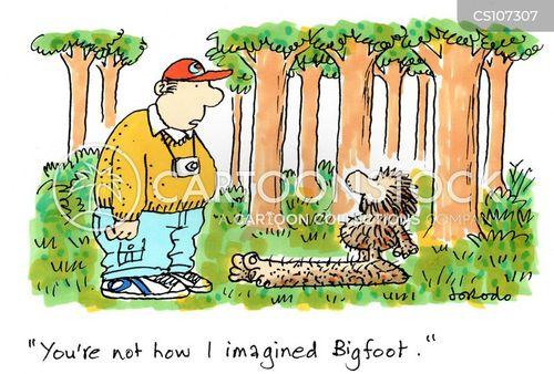 foot size cartoon