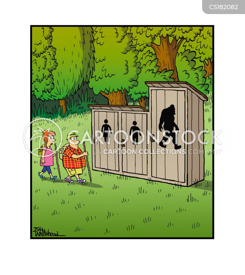 outhouse cartoon