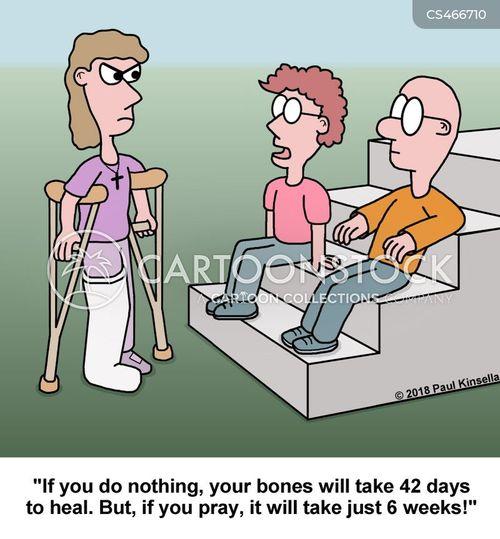 faith healing cartoon