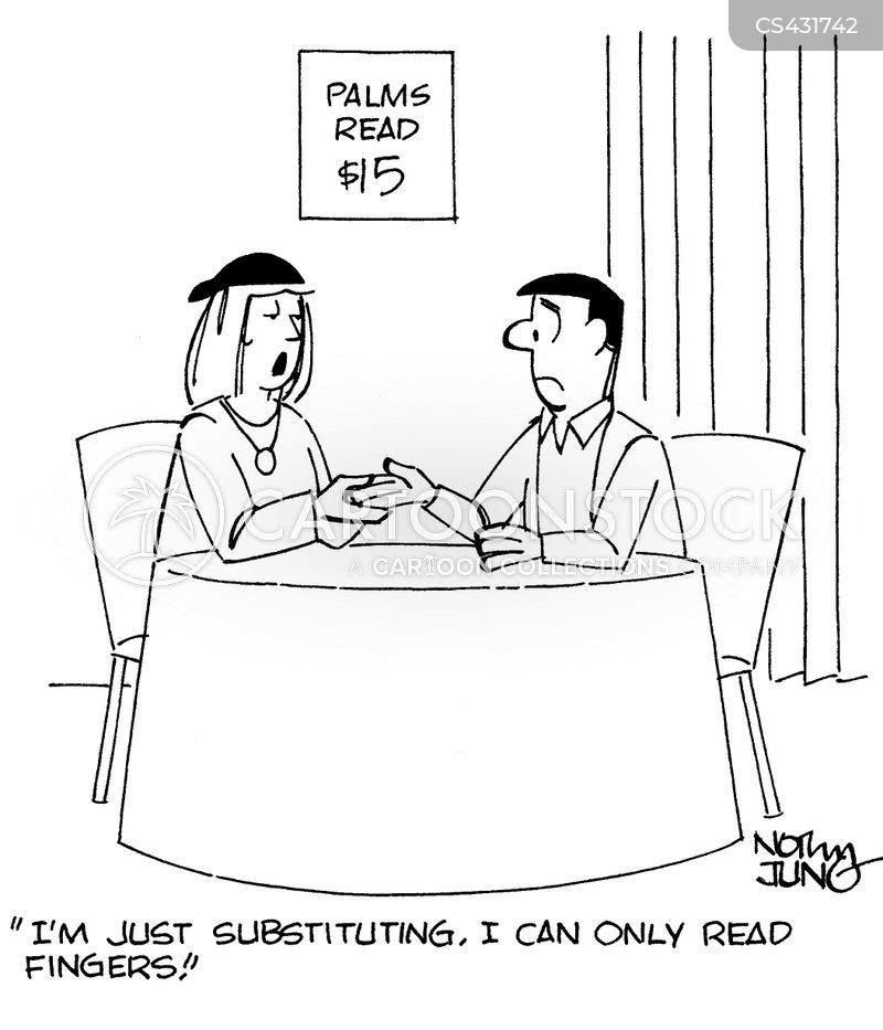 palm readers cartoon
