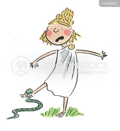 snakebite cartoon