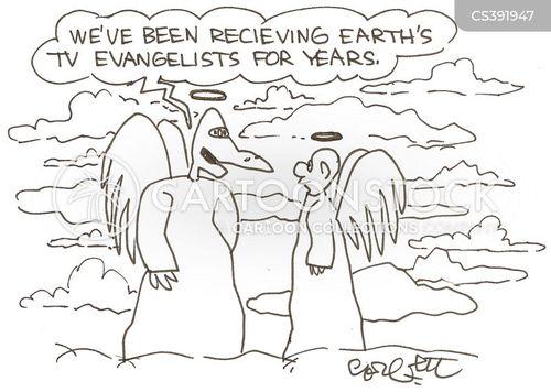 evangelists cartoon