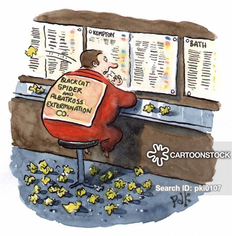betting shops cartoon