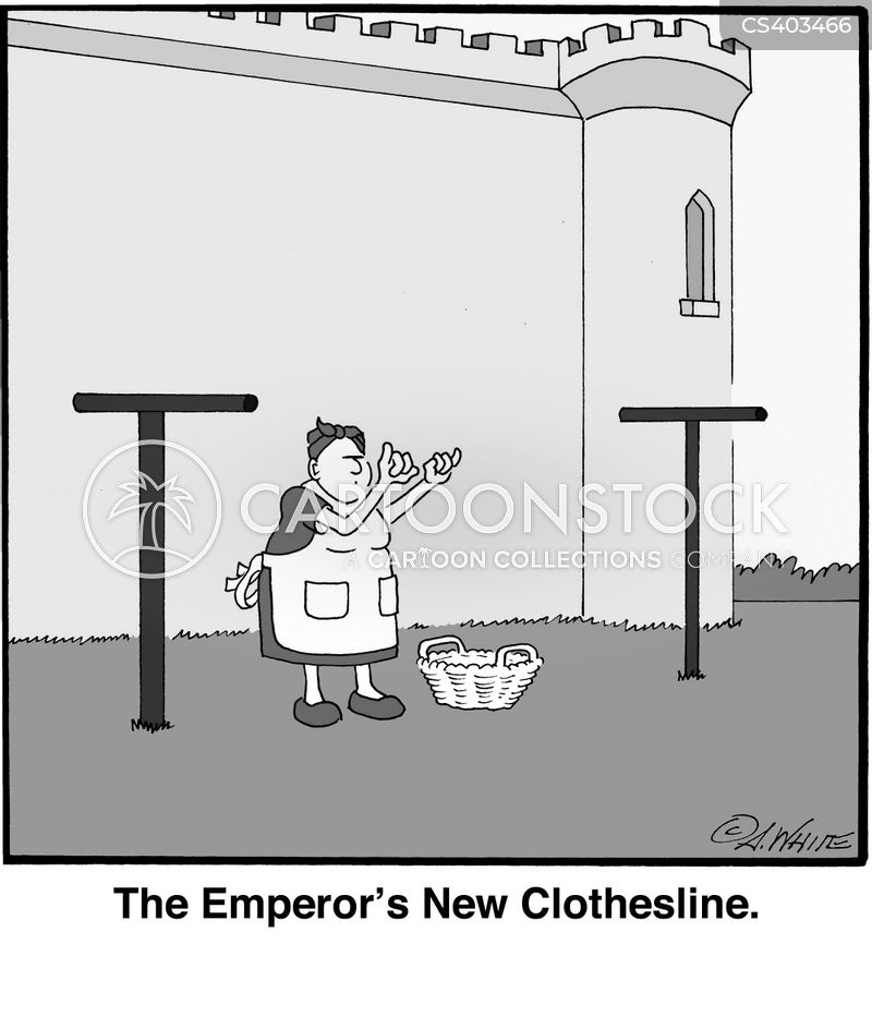 clothes-line cartoon