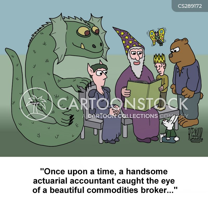 commodities broker cartoon
