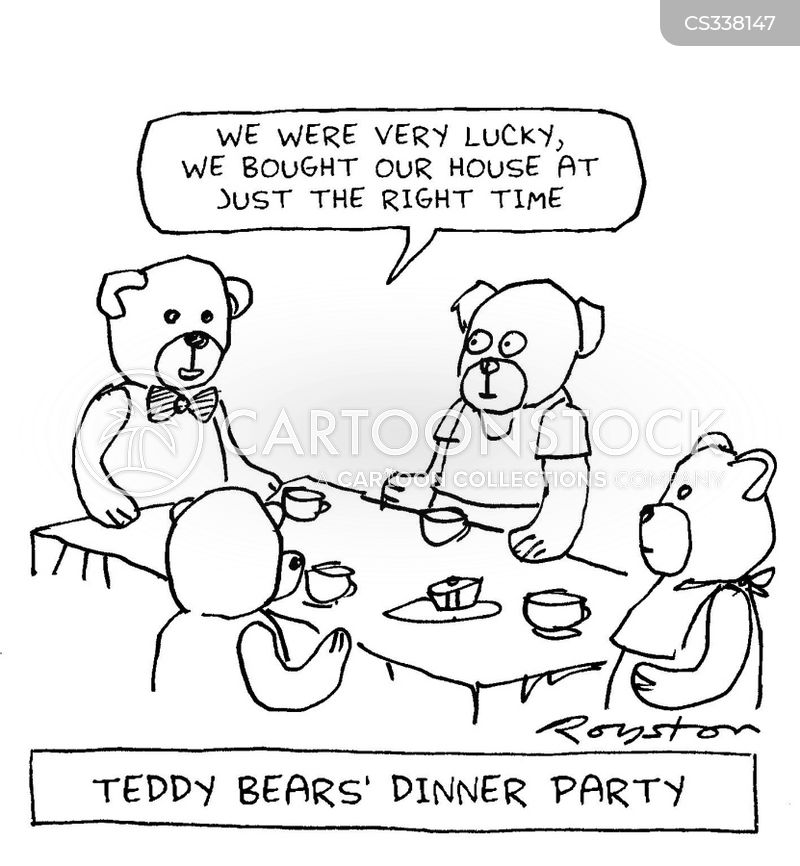 house warming party cartoon