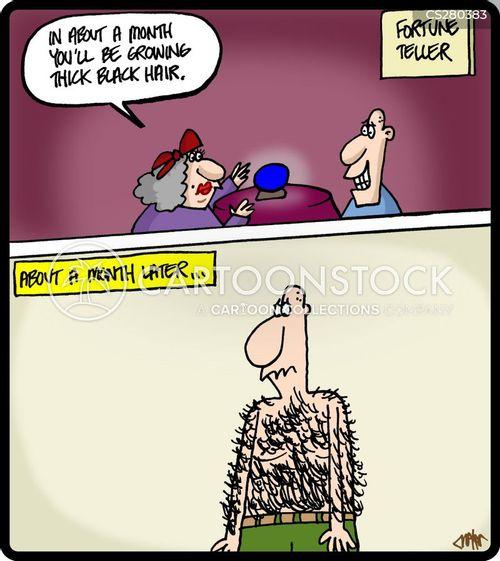 back hair cartoon