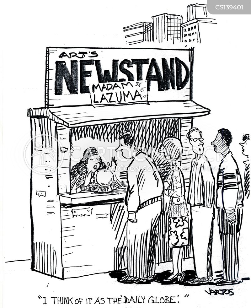news stands cartoon