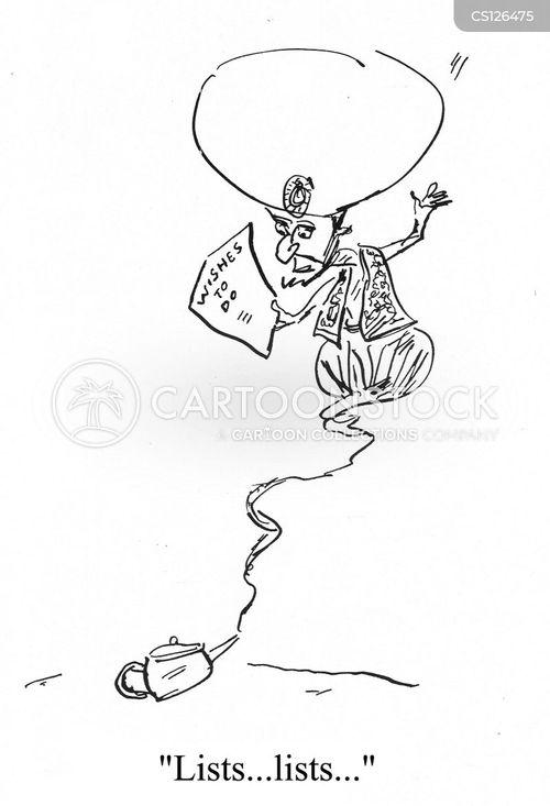 genie in a bottle cartoon