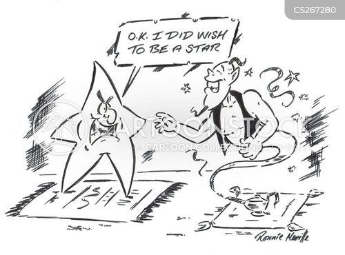 celebrity status cartoon