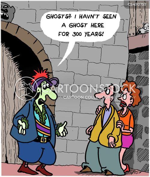 haunted castle cartoon