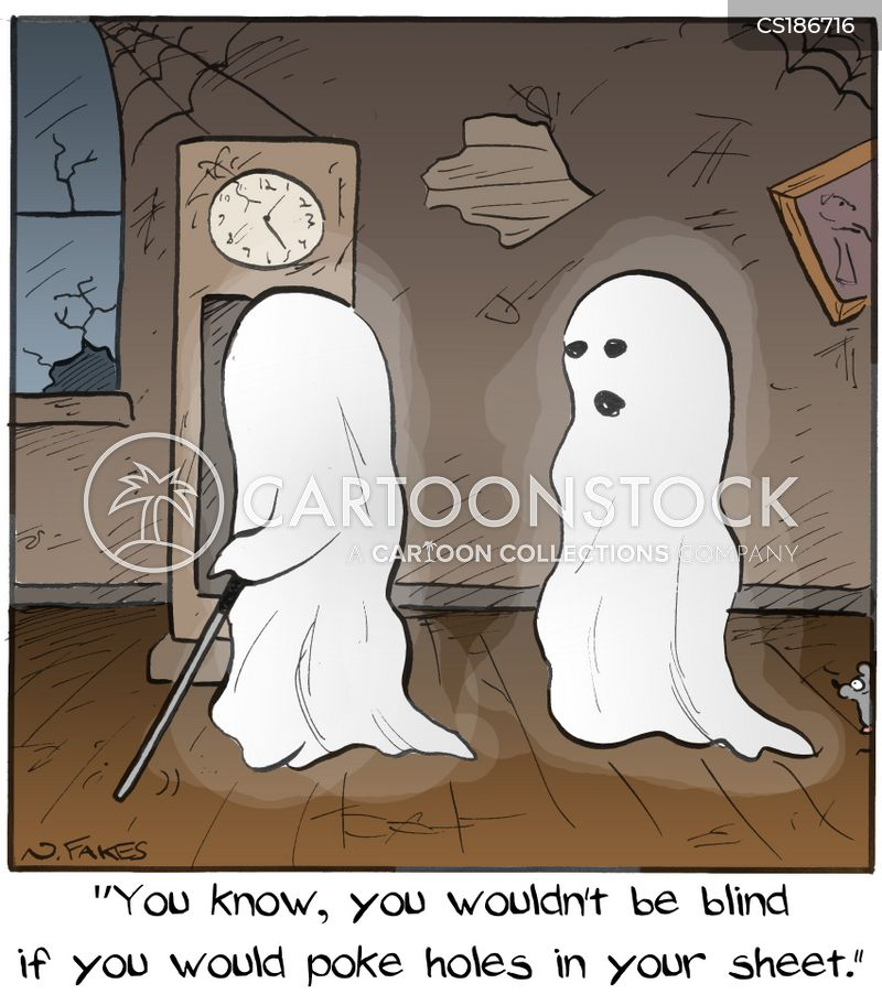 haunted cartoon
