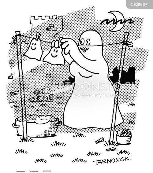 white sheet cartoon