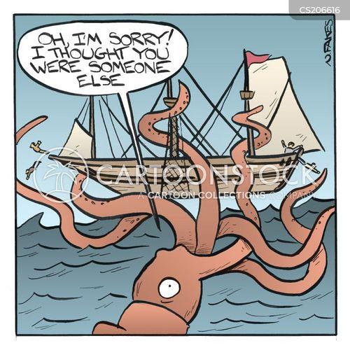 squids cartoon