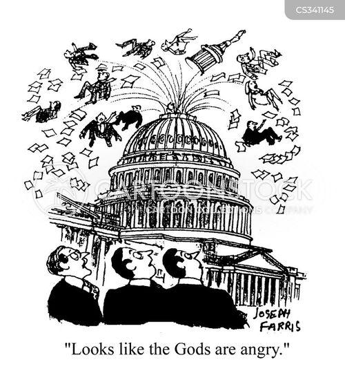 angry gods cartoon