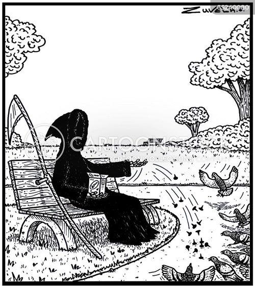 bird feeds cartoon