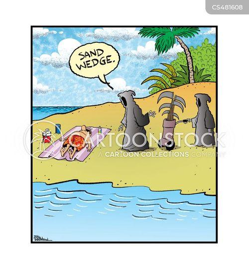 sand wedges cartoon