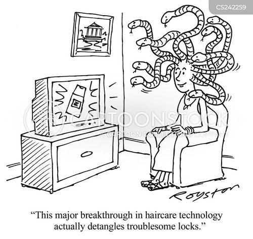 haircare cartoon