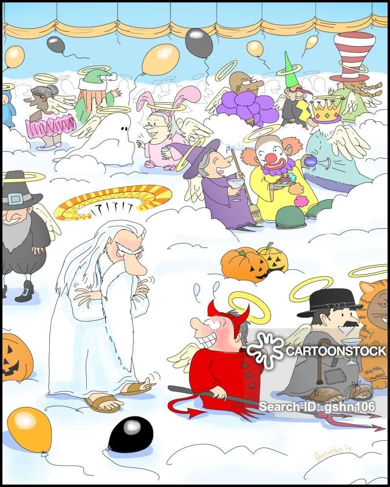 halloween party cartoon