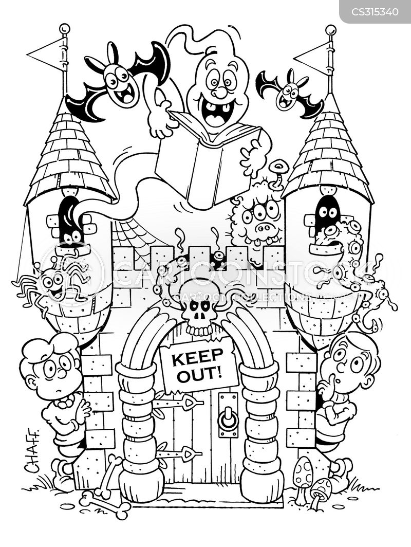 haunted castle cartoons and comics funny pictures from