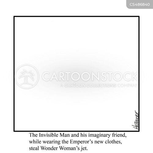 invisible men cartoon