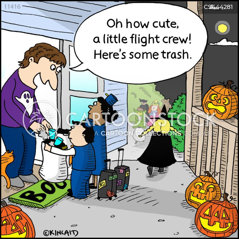 flight crews cartoon