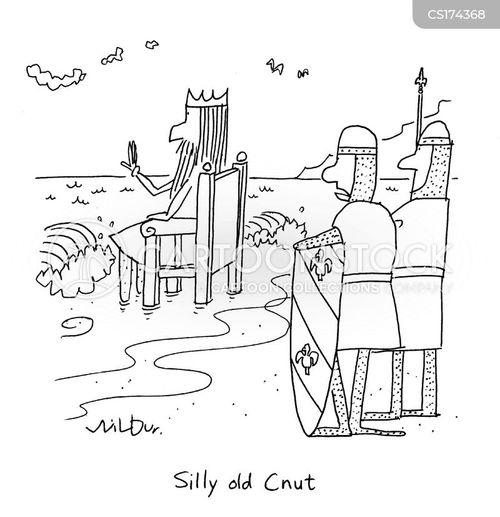 king canute cartoon