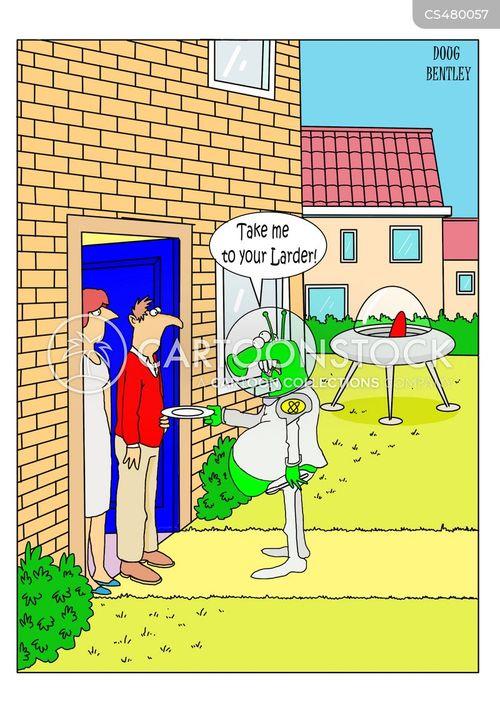 food cupboard cartoon