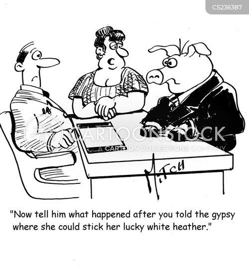 lucky heather cartoon