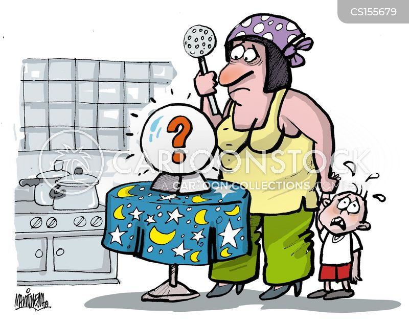 question marks cartoon