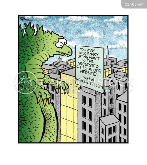 giant reptile cartoon
